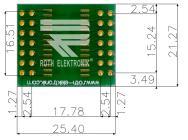 QFN//QFP-40 RE935-03E By ROTH ELEKTRONIK FIBREGLASS IC ADAPTOR